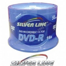 DVD-R SilverLine 50 Pack Cakebox Speed x16