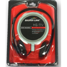SilverLine HS-11V Stereo Headphones /w Microphone