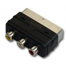 SCART to RCA Yellow White Red Adapter
