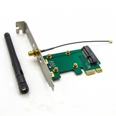 Allytech Wireless LAN Mini PCI-E Card to PCI-E