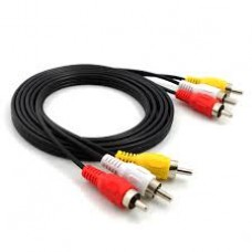 RCA Male to RCA Male Audio+Video 2 m Cable (Red-White-Yellow)