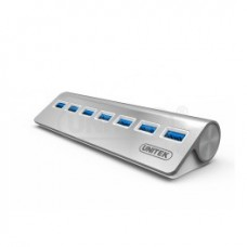 Unitek (Y-3187) 7-port USB 3.0 Charging Aluminium Hub + DC  Power Supply