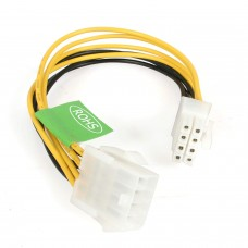8-Pin 12V Male (M) to 8-Pin 12V Female (F) PSU Cable Extension - 15cm