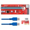 Extender Cable USB 3.0 Converter SATA PCI-E x1 to PCI-e x16 Riser Card with 15pin SATA Power For Bitcoin Mining