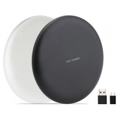 Qi QC Fast Charge Wireless Charger Pad  9V/1.67A 5V/2A for iPhone / Samsung / LG - Black/White