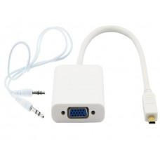 PROTEC DM146 Micro HDMI M to VGA + 3.5mm Audio OUT Adapter Cable