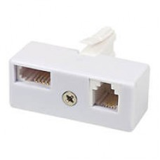 UK Telephone BT Plug to 6P4C RJ11 BT Socket Splitter and Adapter for Landline Telephone