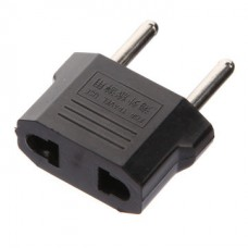 US to EU Power Jack Wall Plug Converter Travel Adapter