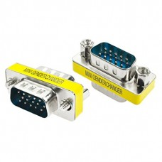 15 Pin VGA Coupler (VGA Male to Male) HD15 Male to HD15 Male Adapter
