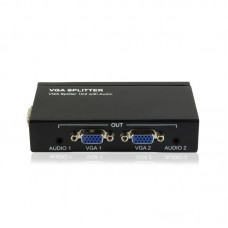 Protech Powered 2-Port VGA Splitter with Audio In/Out splitter