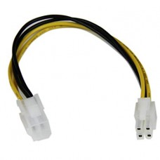 4-Pin 12V Male (M) to 4-Pin 12V Female (F) PSU Cable Extension - 20cm