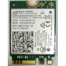 Intel 3165 3165NGW 3165AC Dual Band Wireless AC + Bluetooth4.0 Mini NGFF wifi card 802.11AC 3165 Wireless Wifi Card