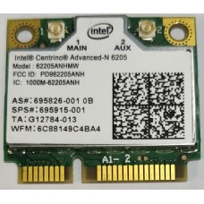 Intel® Centrino® Advanced-N 6205 62205ANHMW  WIFI Wireless N Wlan Card Dual-band 2.4/5.0 GHz 802.11