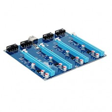 PCI-E X1 TO 4PCI-E X16 Expansion Kit 1 to 4 Port PCI Express Switch Multiplier HUB Riser Card for BTC Miner
