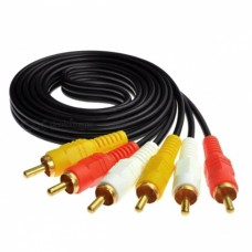 RCA Male to RCA Male Audio+Video 5 m Cable (Red-White-Yellow)