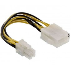 4-Pin 12V Male (M) to 8-Pin 12V Female (F) PSU Cable Adapter - 15cm