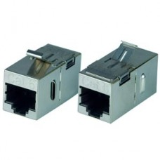 Generic RJ45 (F) to RJ45 (F) CAT6 Shielded Keystone Coupler, Cable LAN Extender