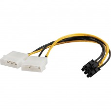 4-Pin (Molex) Cable x 2 to 6 Pin PCI-E Y Power Adapter Cable