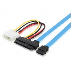 7-Pin SATA to SAS 29 Pin & 4 Pin Connector Power Cable