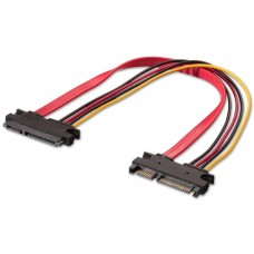 22 Pin SATA Male to Female Extension Cable - 50 cm