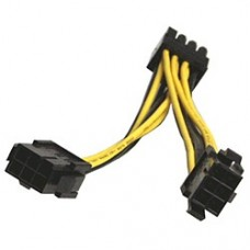 Generic (2x) 6-pin to 8-pin PCI-e Power Y-Splitter Cable