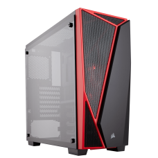 Corsair Carbide Series SPEC-04 Tempered Glass Mid-Tower Gaming Case - Black/Red