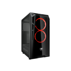Cougar TURRET Pro-Cooling Compact Gaming Case with Tempered Glass Side Window