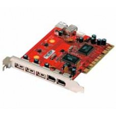Conceptronic CDUOFWU VIA Chip 4-Port USB2.0 3-Port Firewire PCI Card