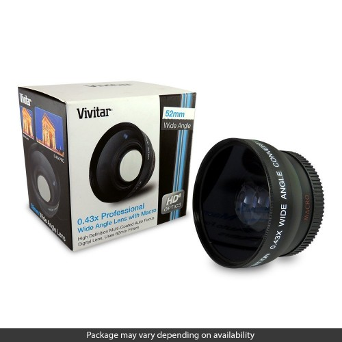 Vivitar HD4 MC AF High Definition 0.43x Wide Angle Converter - Open BOX