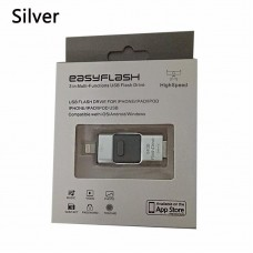 128GB Easyflash 3 in 1 Multi-function USB Flash Drive (Compatible with iOS/Android/Windows)