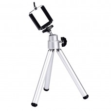 Lightweight 2-Section Legs Mini Tripod Stand with Phone Clip, Phone holder