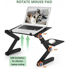 RAINBEAN Adjustable Laptop Stand with 2 CPU Cooling USB Fans