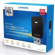 Linksys WUSB6100M MAX-STREAM™ AC600 Wi Fi Wireless USB Adapter