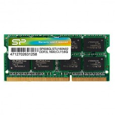 8GB Silicon Power SP008GLSTU160N02 204-Pin 1600MHz CL11 DDR3L SO-DIMM Memory