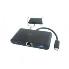 Protec (DM180) USB3.1 Type C to HDMI+USB3.0+Gigabit RJ45+Power Delivery Multi Hub Adapter Cable