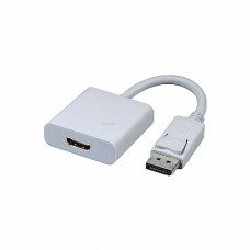 Protec DM128 Display Port DP (M) Male to HDMI (F) Female Adapter Cable