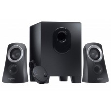 Logitech Z- 313 25W  RMS 2.1 Miltimedia Speaker System with Subwoofer + Wired control pod