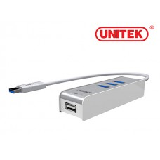 Unitek (Y-3076) USB3.0 3-Port Hub + KM Swap & File Transfer Function OTG Adapter