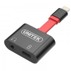 Unitek M1103A Lightning Splitter for 3.5mm Headphone plus Charging