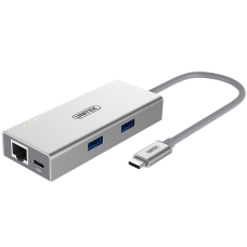 Unitek (Y-9106) USB3.0 C to 2-Port USB3.0 + RJ45 Multi-port Hub with Power Delivery
