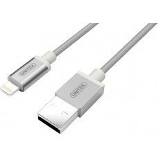 Unitek (Y-C499ASL) Apple Certified USB to Lightning Cable 1m - Silver