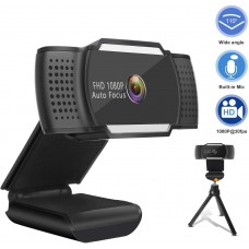 FHD Webcam 1080p USB Web Camera with Microphone and Stand