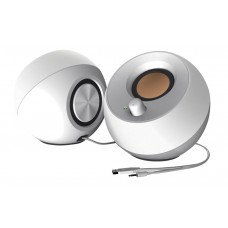 Creative Pebble Modern 2.0 USB Desktop Speakers - White