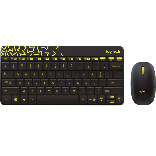 Logitech MK240 Nano Wireless Keyboard And Mouse Combo - Hebrew/English
