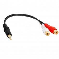 Audio 2 RCA Female to 3.5mm PL Jack Adaptor